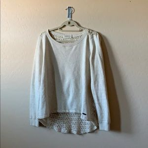 Knit back- fleece Abercrombie and Fitch pull over